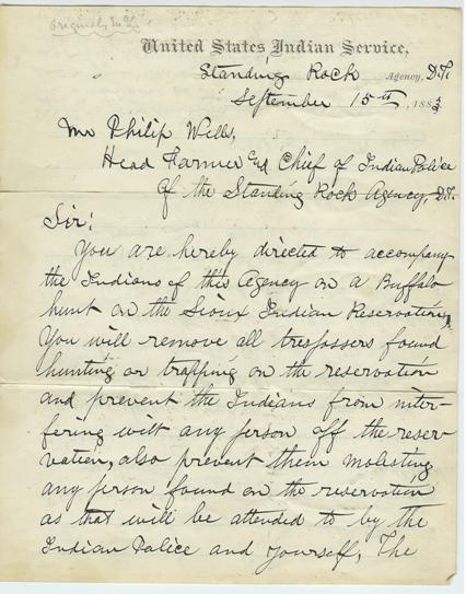 customs173-letter-no-4-authorizing-1883-buffalo-hunt