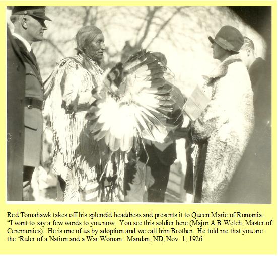 queen-marie-1-Queen-Marie-of-Romania-receives-Red-Tomahawks-headdress-Nov-1-1926
